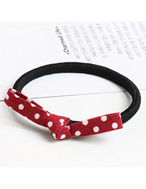 Sweet Red Dot Decorated Bowknot Design Simple Hair Band