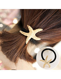 Trendy Yellow Irregular Shape Decorated Color Matching Hair Band