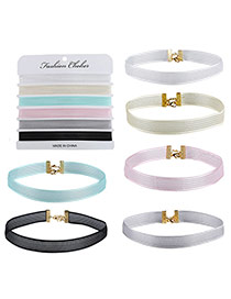 Fashion Multi-color Pure Color Decorated Lucency Design Simple Choker
