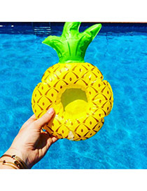 Fashion Yellow Pineapple Shape Decorated Simple Aerated Beach Ball