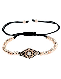 Personality Rose Gold Diamond Shape Decorated Simple Pure Color Design Bracelet