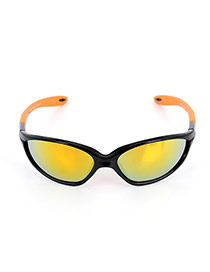 Fashion Orange Color-matching Decorated Simple Square Shape Sunglasses