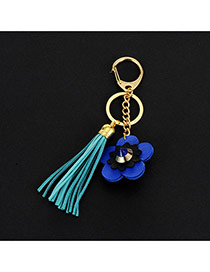 Lovely Green Flower&tassel Decorated Simple Key Ring