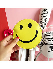 Fashion Yellow Smiling Face Pattern Decorated Round Shape Wallet