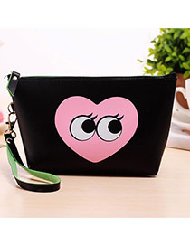Fashion Black Cartoon Pattern Decorated Square Shape Design Waterproof Bag