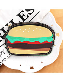 Fashion Multi-color Hamburger Shape Decorated Color Matching Simple Wallet