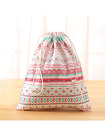 Fashion Multi-color Flower Pattern Decorated Square Shape Duffle Bag