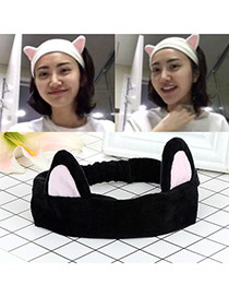 Fashion Black Cat Ears Decorated Color Matching Design Hair Band