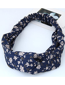 Fashion Blue Round Dot Decorated Simple Wide Hair Band