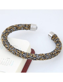 Trendy Multi-color Color Matching Decorated Simple Opening Bracelet