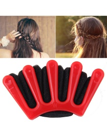 Fashion Red+black Finger Shape Decorated Color Matching Simple Hair Device
