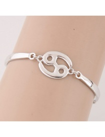 Pulsera Del Estilo Coreano Decorado Con Horoscopo De Cancer