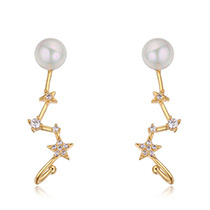 Elegant Zircon Star Shape Decorated Earrings