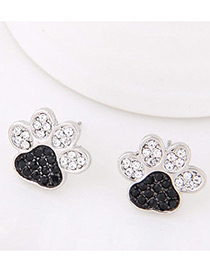 Lovely Black Claw Shape Decorated Simple Earrings