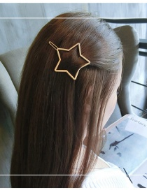 Fashion Gold Color Satr Shape Decorated Pure Color Hairpin