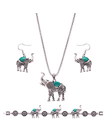 Lovely Green Camel Shape Pendant Decorated Simple Jewelry Sets