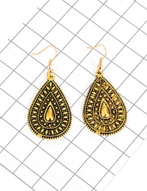Fashion Gold Color Water Drop Shape Decorated Pure Color Simple Earrings