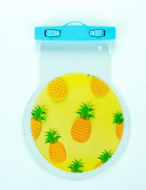 Fashion Yellow Pineapple Pattern Decorated Color Matching Waterproof Phone Cover