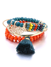 Bohemia Multi-color Tassel Pendant Decorated Simple Multilayer Bracelet