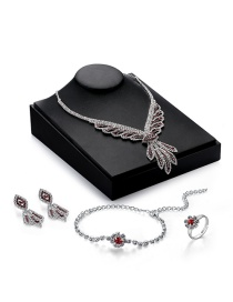 Luxury Multi-color Tassel Pendant Decorated Simple Jewelry Sets(4pcs)