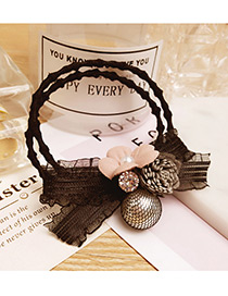 Fashion Gray Flower&bowknot Decorated Doubler Layer Hair Band