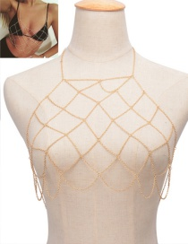 Fashion Gold Color Pure Color Decorated Hollow Out Simple Body Chain
