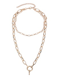 Fashion Gold Color Chains Decorated Pure Color Simple Necklace
