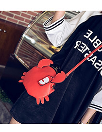 Fashion Red Pure Color Decorated Crab Shape Shoulder Bag