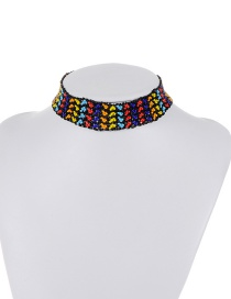 Retro Multi-color Color-matching Decorated Hollow Out Simple Choker
