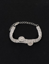 Elegant Silver Color Round Shape Decorated Simple Pure Color Bracelet