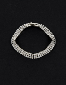 Fashion Silver Color Round Shape Decorated Simple Pure Color Bracelet