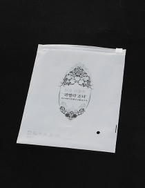 Fashion White Flower Pattern Decorated Pure Color Simple Plastic Hermetic Bag