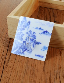 Fashion Blue Mountain Pattern Decorated Simple Sticky Hook