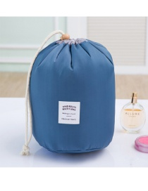 Fashion Blue Pure Color Decorated Pure Color Simple Design Make Up Bags