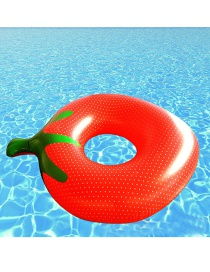 Lovely Red Strawberry Shape Decorated Simple Hollow Out Swim Ring