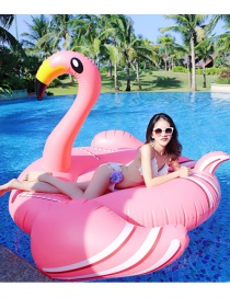 Lovely Pink Flamingo Shape Decorated Simple Swim Ring
