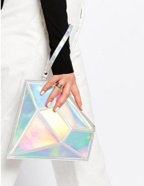 Fashion Multi-color Diamond Shape Decorated Simple Pure Color Bag