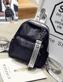 Fashion Silver Color Letter Pattern Decorated Pure Color Simple Backpack