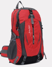 Fashion Red Color Matching Decorated Simple Waterproof Backpack