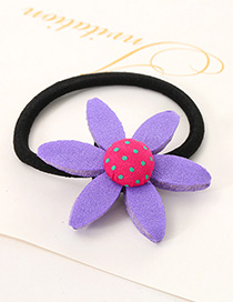 Lovely Purple Sunflower Shape Decorated Simple Baby Hair Band