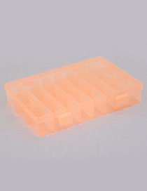 Fashion Orange Pure Color Decorated Square Shape Detachable Storage Box