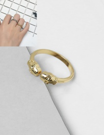 Elegant Gold Color Trendsetter Decorated Pure Color Simple Ring