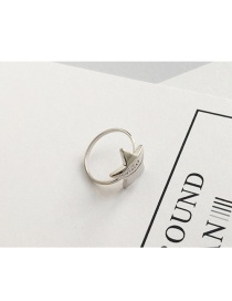 Elegant Gold Color Star Shape Decorated Pure Color Simple Ring