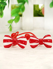 Cute Red Bow Tie Shape Decorated Simple Baby Hair Band(1pair)