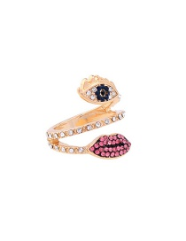 Fashion Gold Color Eye&mouth Shape Decorated Simple Ring
