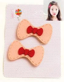 Lovely Pink Bowknot Shape Decorated Simple Children Hairpin (1pair )