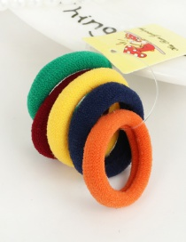 Cute Multi-color Color Matching Decorated Simple Round Shape Hair Band (5pcs)