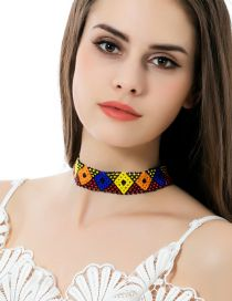 Fashion Multi-color Color-matching Decorated Simple Hollow Out Design Choker
