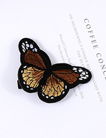 Lovely Coffee Butterfly Decorated Simple Color Matching Hairpin