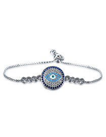 Personality Silver Color Eye Shape Decorated Bracelet